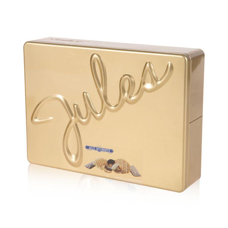 Bánh quy Jules' Tin (Bánh quy bơ giòn, Bánh quy bơ trứng) hộp thiếc vàng 250g